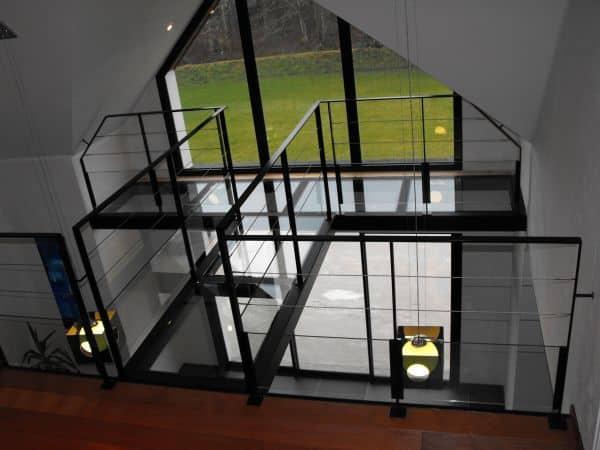 passerelle verre normandie metal design