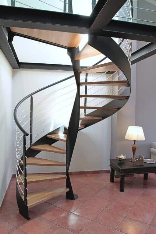 Escalier sur mesure en colimaçon