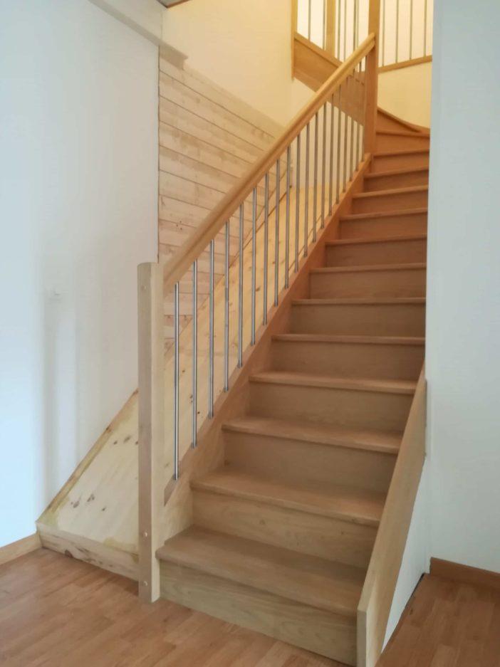 pose et fabrication escalier quart tournant normandie