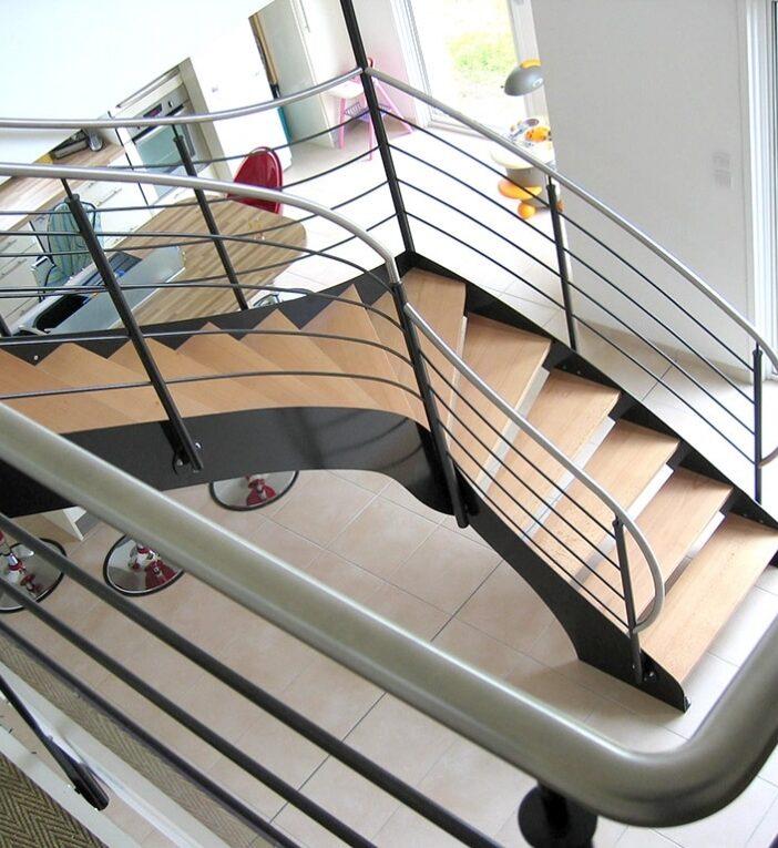 escalier quart tournant calvados caen en Normandie