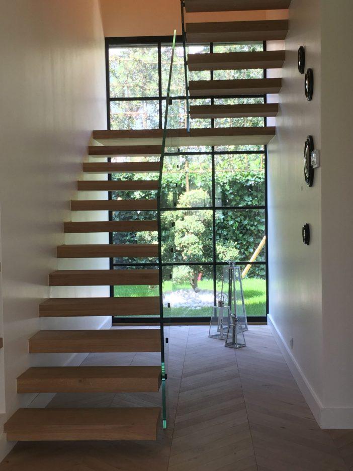 Escalier Suspendu Bois Verre