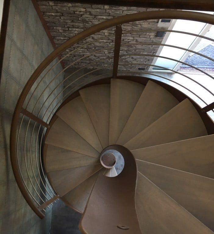 Escalier colimaçon Deauville Normandie
