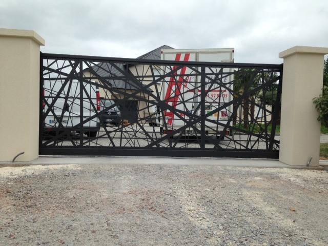 Portail métal design Deauville