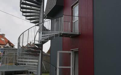 Escalier sortie de secours Normandie
