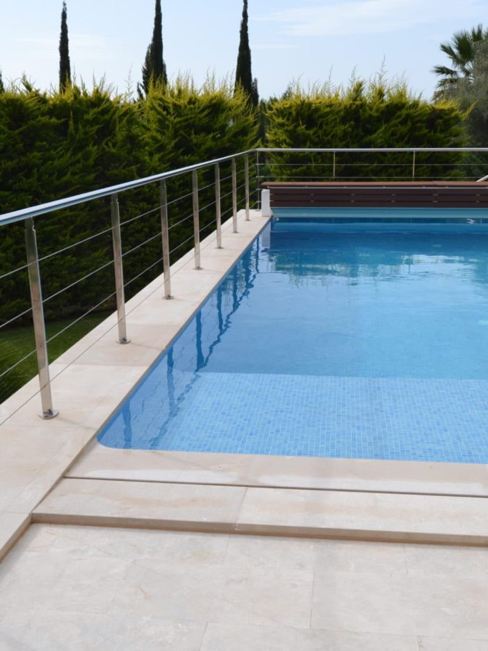 Garde corps inox piscine Caen