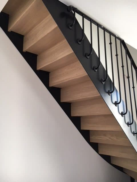Escalier bistrot en Normandie